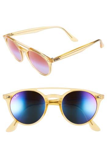 Ray-Ban 51Mm Mirrored Rainbow Sunglasses - Yellow Rainbow