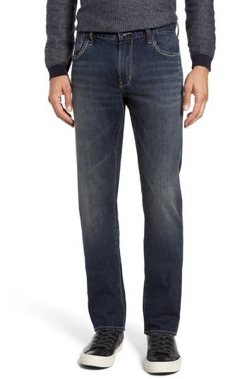 John Varvatos Star Usa Bowery Slim Straight Leg Jeans, Black