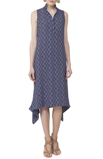 Akris Punto Las Rocas Print Midi Dress