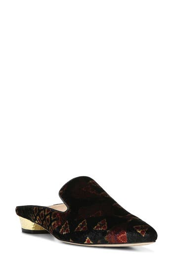 Sam Edelman Augustine Patterned Loafer Mule- Black