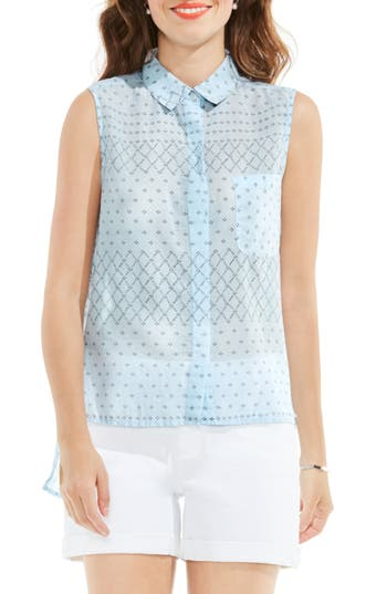 Two By Vince Camuto Sleeveless High/low Shirt