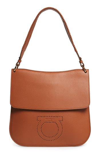 Salvatore Ferragamo Leather Hobo Bag -