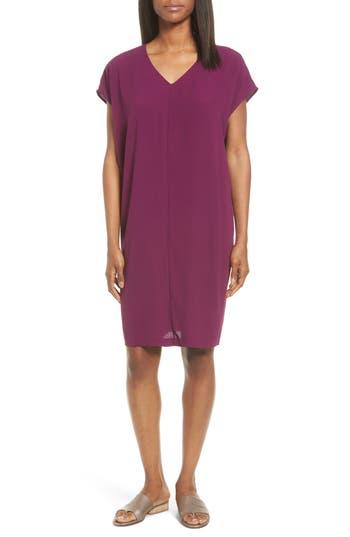 Eileen Fisher Silk Shift Dress, Purple