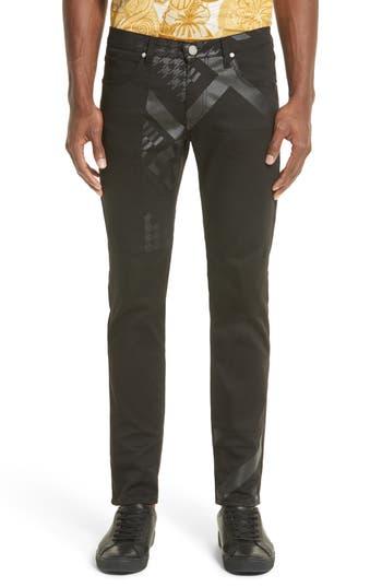 Versace Jeans Slim Fit Print Jeans, Black