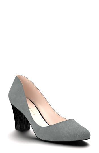 Shoes Of Prey Block Heel Pump - Grey