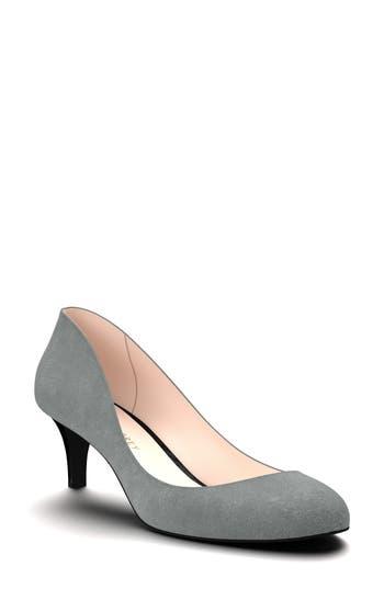 Shoes Of Prey Kitten Heel Pump, Grey