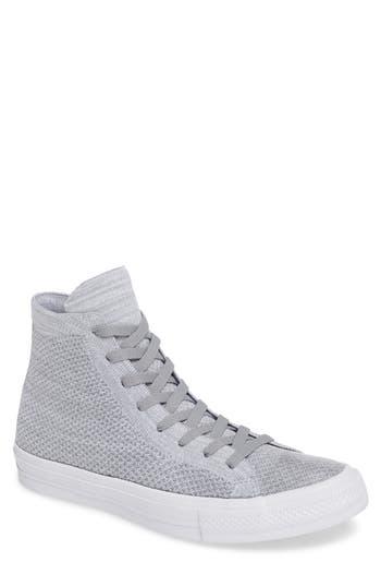 Converse Chuck Taylor All Star Flyknit Hi Sneaker- Grey