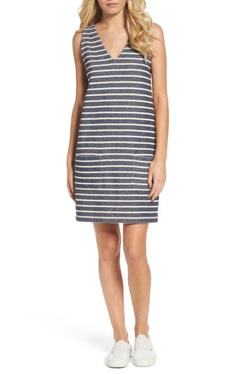 French Connection Normandy Stripe Dress, Blue
