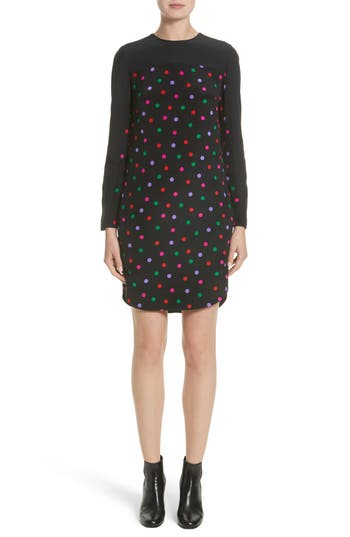 Akris Punto Multicolor Dot Silk Dress