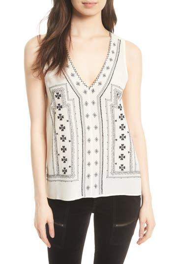 Women's Joie Merles Embroidered Silk Top