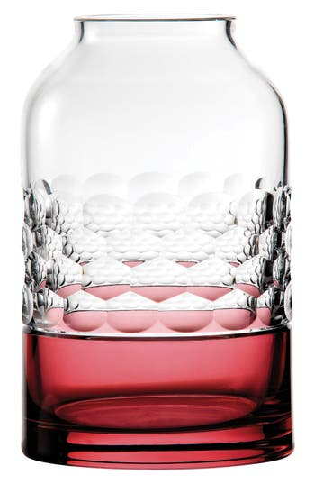 Waterford Jo Sampson Half & Half Rose Lead Crystal Vase, Size One Size - White