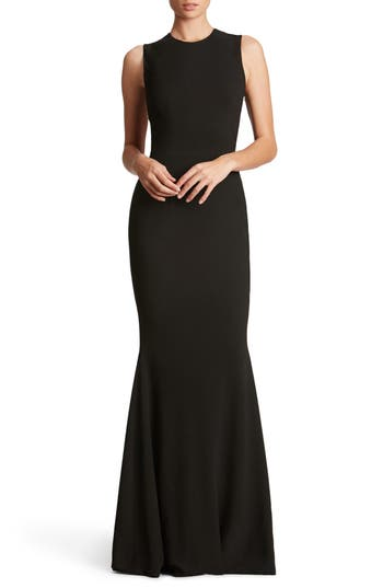 Dress The Population Eve Crepe Mermaid Gown, Black