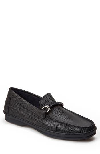 Sandro Moscoloni Benito Perforated Moc Toe Loafer - Black