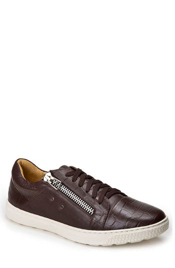 Sandro Moscoloni Cassius Side Zip Sneaker - Brown