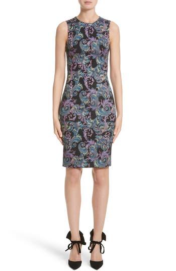 Versace Collection Jacquard Sheath Dress, 50 IT - Black