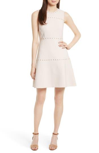 Kate Spade New York Studded A-Line Crepe Dress, Pink