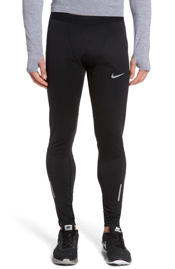 Nike Shield Tech Weather Resistant Running Tights, Black