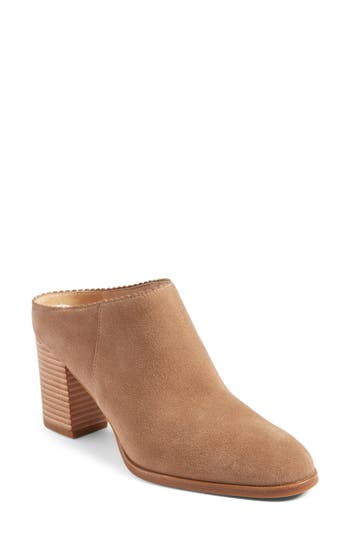 Women's Via Spiga Sophia Block Heel Mule, Size 4.5 M - Beige