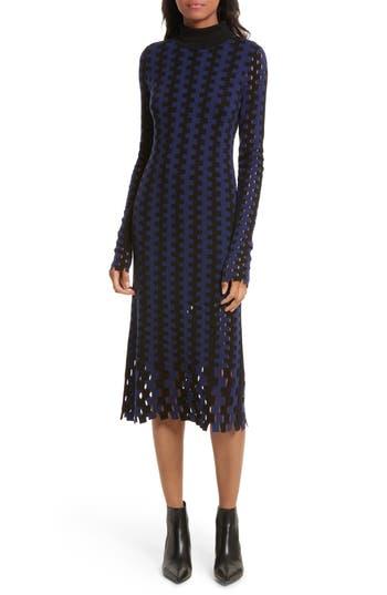 Diane Von Furstenberg Turtleneck Merino Wool Midi Dress, Black