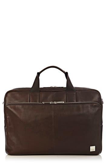 Knomo London Brompton Amesbury Leather Briefcase - Brown