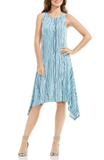 Vince Camuto Electric Lines Handkerchief Hem Dress