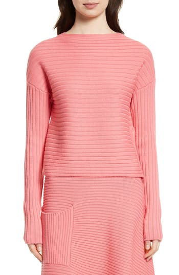 Tibi Ribbed Wool Sweater