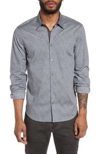 Men's John Varvatos Star Usa Slim Fit Print Sport Shirt