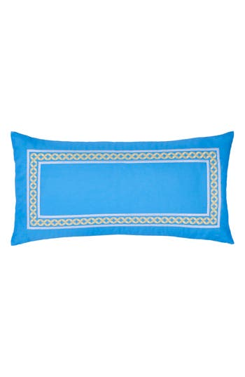 Southern Tide Sailgate Embroidered Border Accent Pillow, Size One Size - Blue