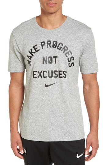 Nike Dry No Excuses Training T-Shirt, Grey