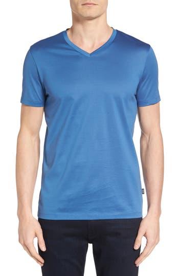Boss Slim Fit V-Neck T-Shirt, Blue