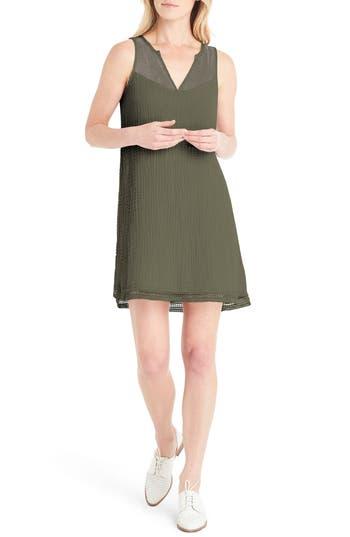 Michael Stars Lace Trim A-Line Dress, Green