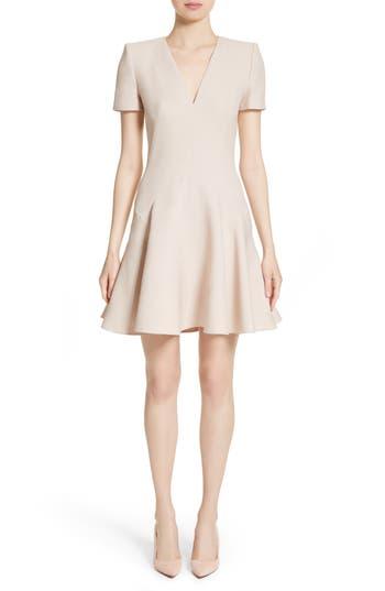 Alexander Mcqueen Wool & Silk Blend Fit & Flare Dress, 8 IT - Pink