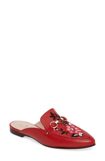 Kate Spade New York Canyon Embroidered Loafer Mule, Red