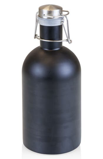 Picnic Time 64-Ounce Stainless Steel Growler, Size One Size - Black