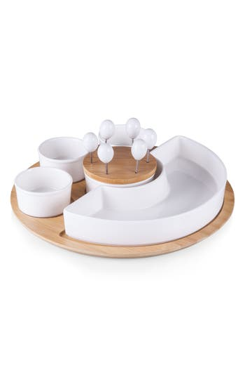 Picnic Time Symphony Appetizer Bowl Serving Set, Size One Size - Brown