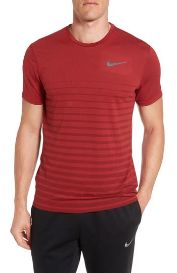 Nike Mesh Running T-Shirt, Red