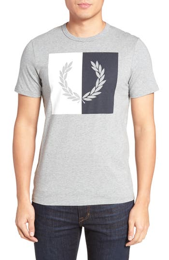 Fred Perry Logo Graphic T-Shirt, Grey