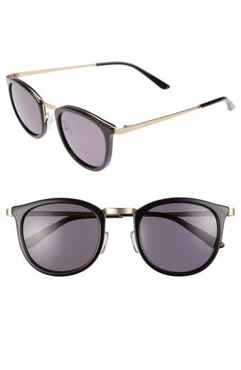 Men's Smoke X Mirrors Shout 49Mm Retro Sunglasses - Black/ Grey