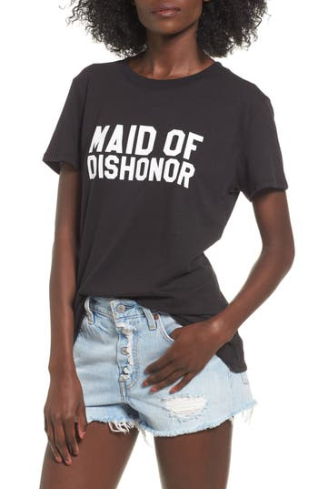 Women's Sub Urban Riot Maid Of Dishonor Graphic Tee, Size X-Small - Black