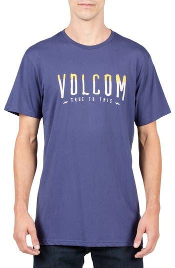 Volcom T-Mark Logo T-Shirt, Blue