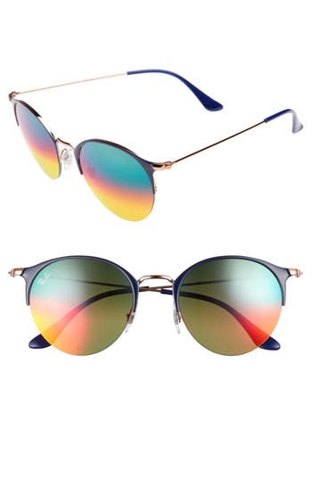 Women's Ray-Ban 50Mm Gradient Mirrored Sunglasses - Gold/ Blue