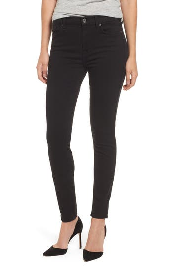 7 For All Mankind B(Air) High Waist Skinny Jeans, Black