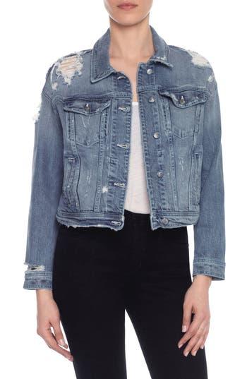 Women's Taylor Hill X Joe's Dolman Distressed Denim Jacket