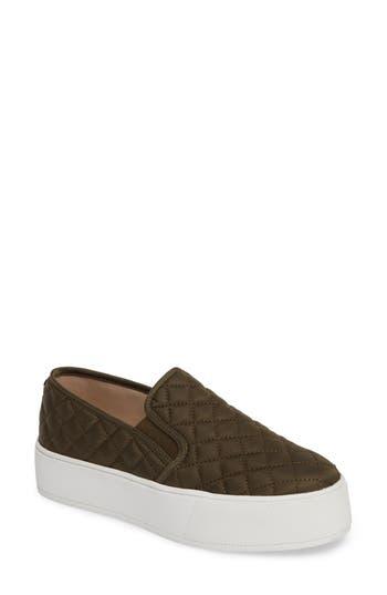 Steve Madden Ecentrcq Quilted Platform Sneaker- Green