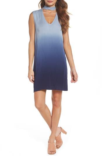Bb Dakota Jill Dip Dye Knit Shift Dress, Blue