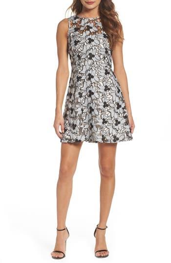 Bb Dakota Occasion Anneka Lace Fit & Flare Dress, White