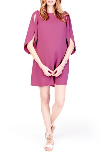 Ingrid & Isabel Maternity Shift Dress, Purple