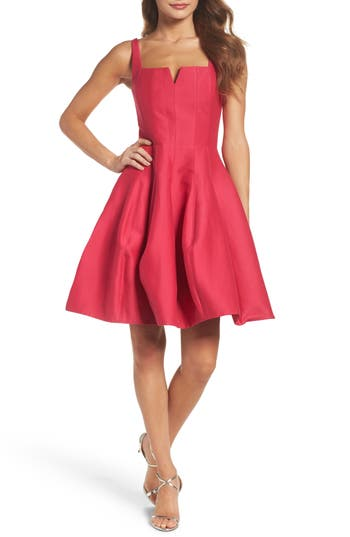 Halston Heritage Fit & Flare Dress, Pink