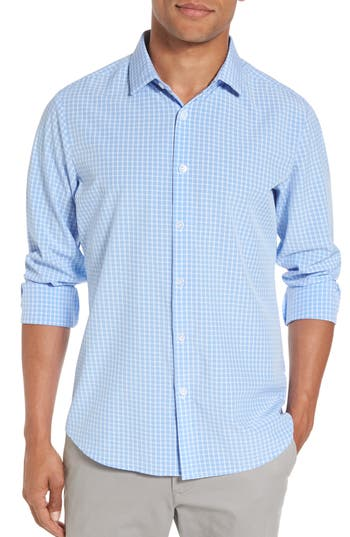 Men's Big & Tall Mizzen+Main Carter Windowpane Check Sport Shirt