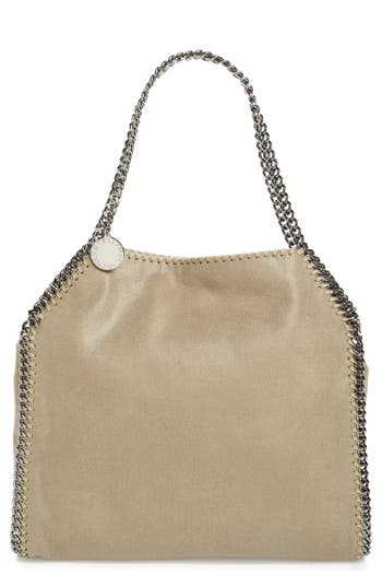 Stella Mccartney 'Small Falabella - Shaggy Deer' Faux Leather Tote - White